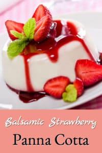 Balsamic Strawberry Panna Cotta