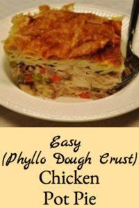 Easy (Phyllo Dough Crust) Chicken Pot Pie