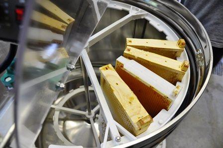 Honey Harvest Frames in Centrifuge