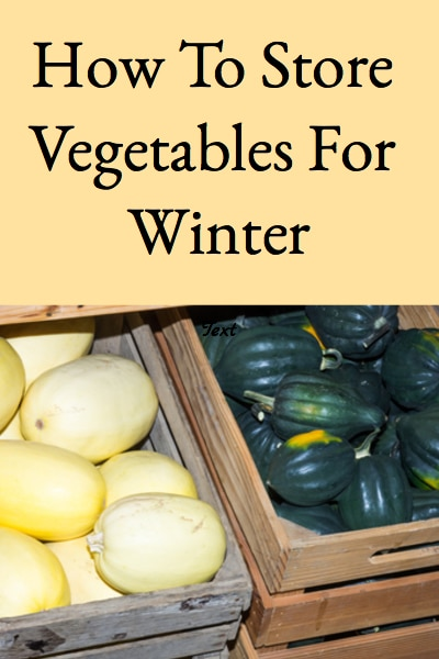 How To Store Vegetables For Winter (Long Term Winter Vegetable Storage)