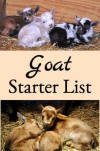 Goat Starter List