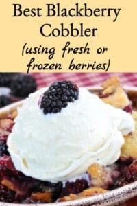 Best Blackberry Cobbler (Using Fresh or Frozen Berries)