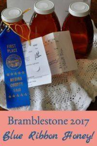 Bramblestone 2017 Blue Ribbon Honey!