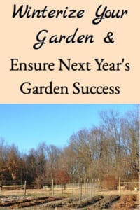Winterizing The Garden