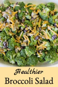 Healthier Broccoli Salad with Bacon & Mayonnaise Dressing