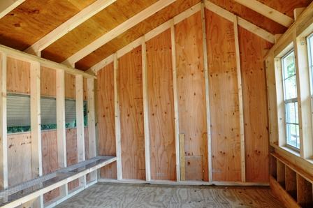 New coop interior sidewall better hens and gardens for Chicken coop interior designs