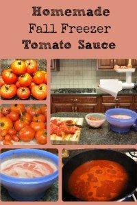 Fall Freezer Tomato Sauce