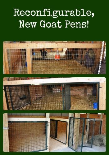 New Stronger Configurable Goat Pens