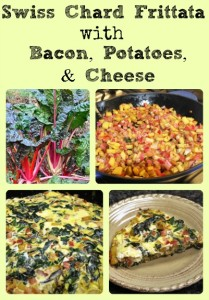 Swiss Chard Frittata with Bacon, Potatoes, & Cheese via Better Hens and Gardens