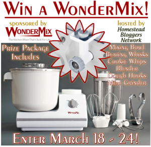 Win A WonderMill Mixer via Better Hens and Gardens