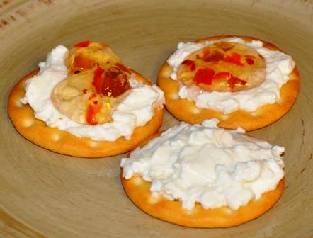 Cream Cheese on Crackers
